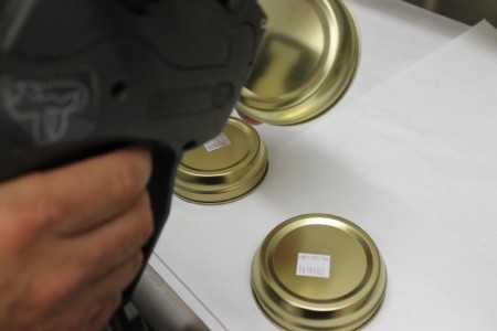 Browne Trading Caviar Packing Applying Labels