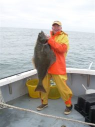 Rod Browne Mitchell with Halibut