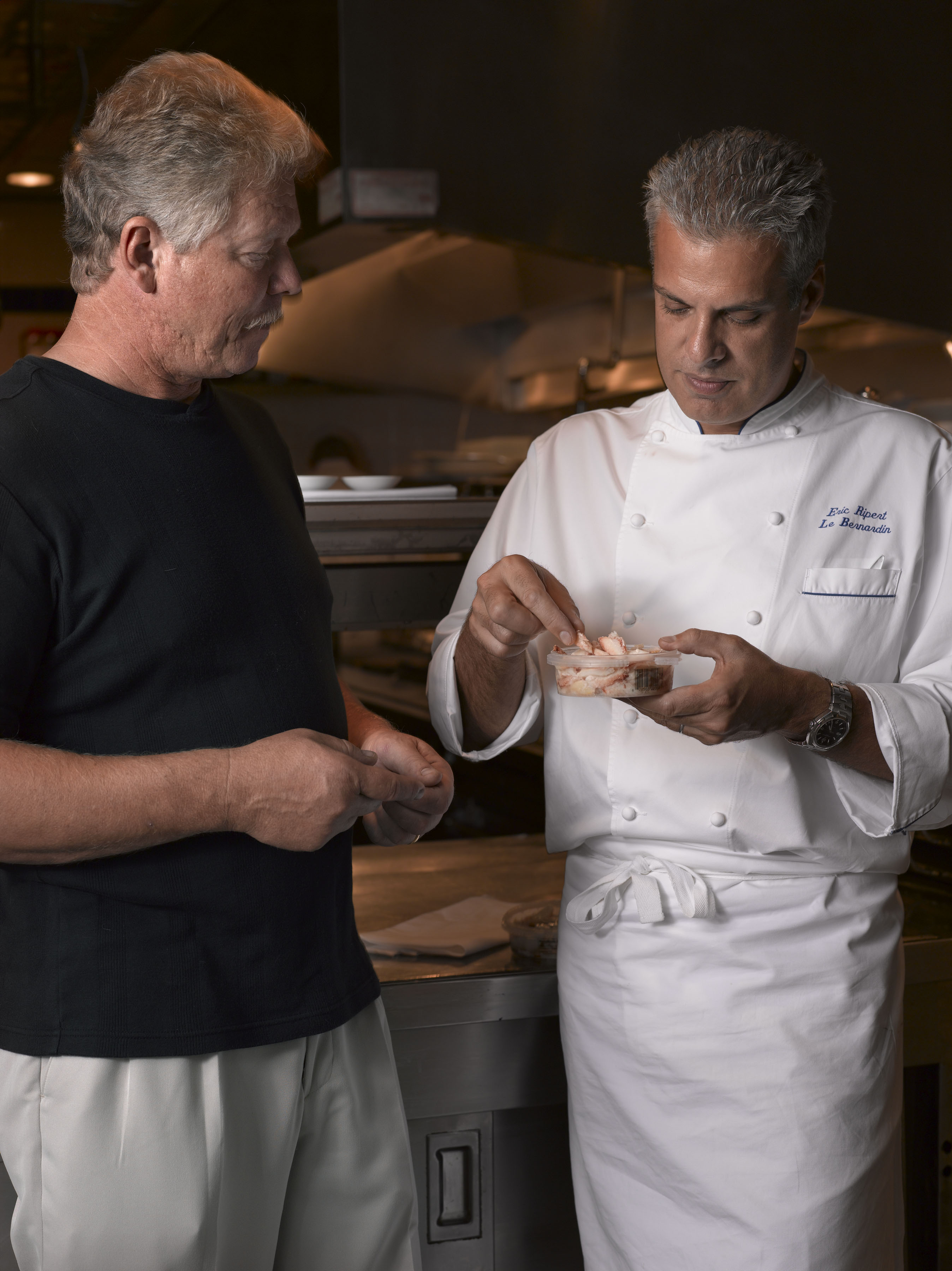 Eric Ripert and Rod Browne Mitchell